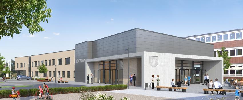 """Zeit zum Anstoßen: Vertragsunterzeichnung """"Neue Mitte Wietze"""" mit Rathaus und Bürgersaal"""